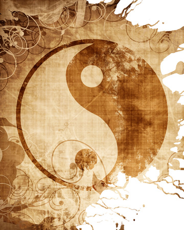 Yin Yang sign with some highlights and reflections