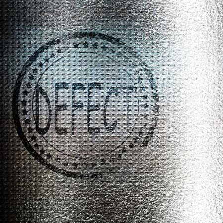 defect: Defect stamp on a grunge background with some lines