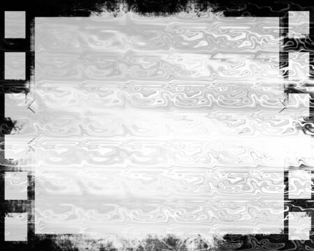 filmstrip: Grunge filmstrip on a solid white background Stock Photo