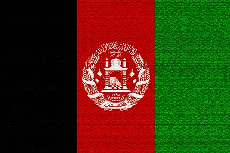 afghan: Afghanistan flag with some soft highlights and folds Stock Photo