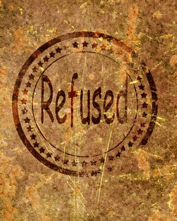 disallow: Refused stamp on a grunge background with some rough lines Stock Photo