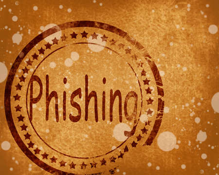 fraudulent: Phising stamp on grunge background with some highlights