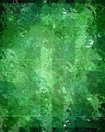 green it: green grunge background with some floral elements in it Stock Photo