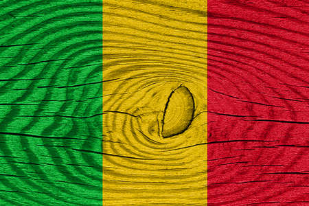 mali: Mali flag with some soft highlights and folds Stock Photo
