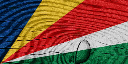 highlights: seychelles flag with some soft highlights and folds