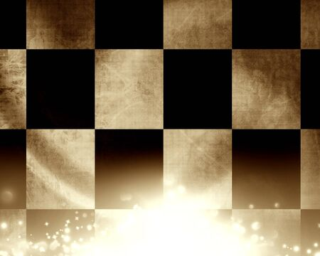 folds: Checkered flag waving in the wind with some folds in it Stock Photo