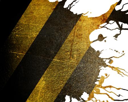 hazardous metals: Black and yellow hazard lines with grunge effects Stock Photo