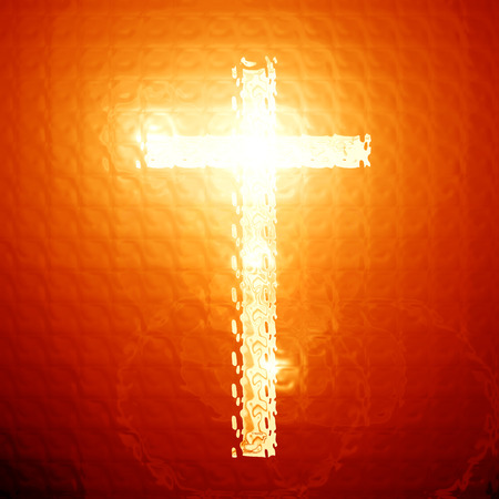 christianity: Christianity representation with the symbol of a cross
