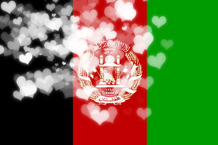 freedom couple: Afghanistan flag with some soft highlights and folds Stock Photo