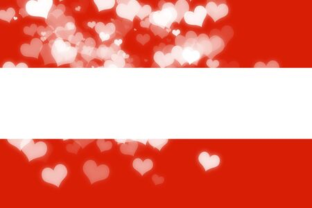 freedom couple: Austrian flag with some soft highlights and folds Stock Photo