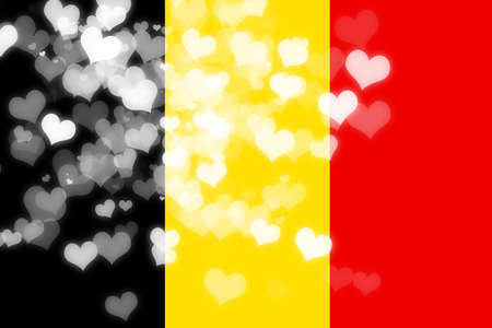 freedom couple: Belgium flag with some soft highlights and folds Stock Photo