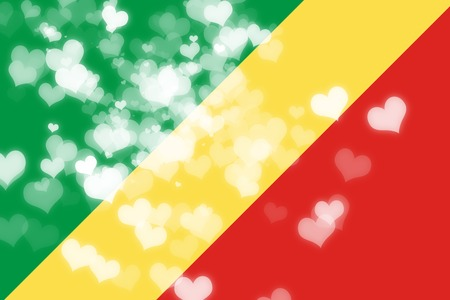 highlights: Congo flag with some soft highlights and folds Stock Photo