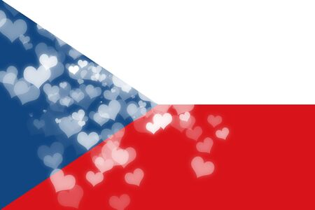 freedom couple: Czech flag with some soft highlights and folds