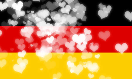 freedom couple: German flag with some soft highlights and folds Stock Photo