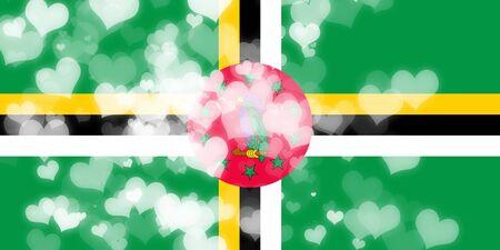 independencia: bandera de Dominica con algunos toques de luz y suaves pliegues