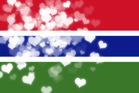 gambia: Gambia flag with some soft highlights and folds