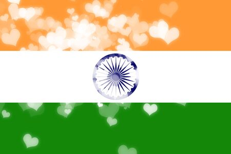 wedding heart: India flag with some soft highlights and folds