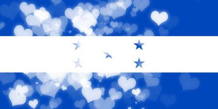 independencia: bandera de Honduras con algunos toques de luz y suaves pliegues Foto de archivo