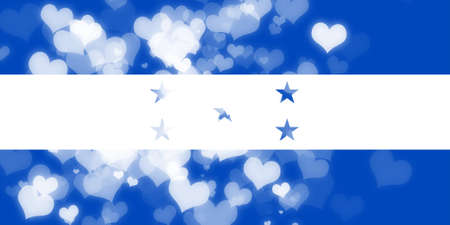 freedom couple: Honduras flag with some soft highlights and folds