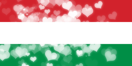 freedom couple: Hungary flag with some soft highlights and folds