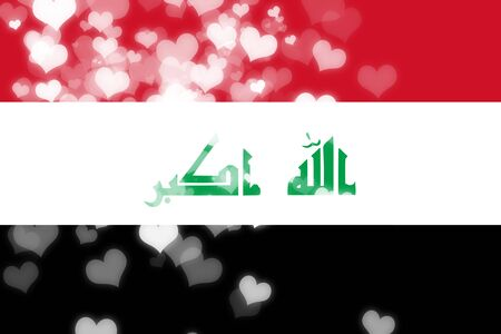 iraq flag: Iraq flag with some soft highlights and folds