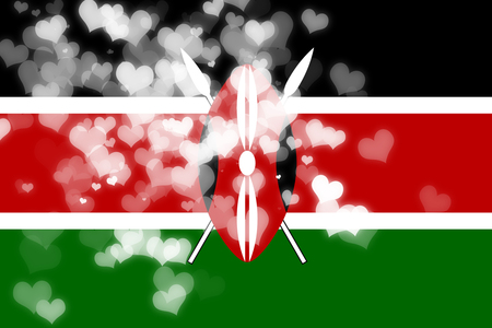 independence: kenya flag with some soft highlights and folds Stock Photo