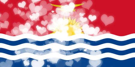 kiribati: Kiribati flag with some soft highlights and folds