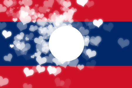 independence: Laos flag with some soft highlights and folds