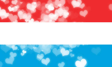 freedom couple: Luxembourg flag with some soft highlights and folds Stock Photo