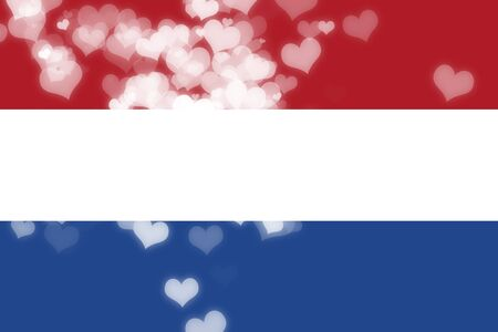 freedom couple: Netherlands flag with some soft highlights and folds