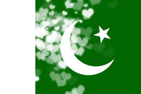 independencia: Bandera de Pakist�n con algunos puntos culminantes suaves y pliegues