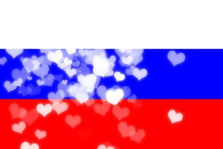 independencia: bandera de Rusia con algunos puntos culminantes suaves y pliegues