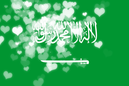 independence: Saudi Arabia flag with some soft highlights and folds Stock Photo
