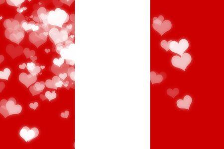 independencia: bandera de Per� con algunos puntos culminantes suaves y pliegues