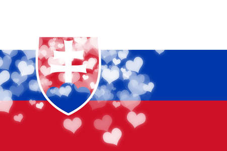 independence: Slovakia flag with some soft highlights and folds