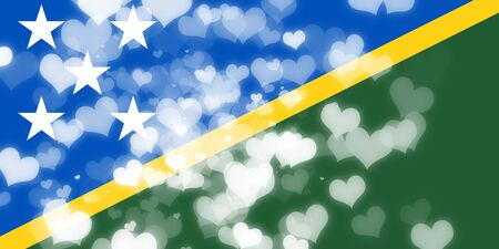 freedom couple: Solomon islands flag with some soft highlights and folds