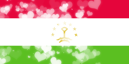 freedom couple: Tajikistan flag with some soft highlights and folds