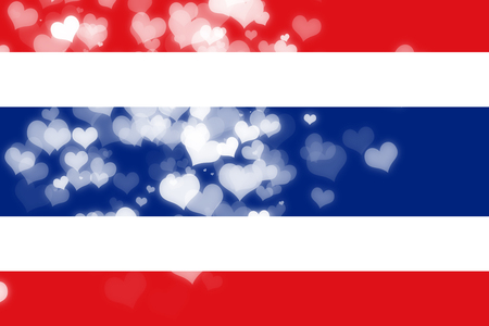 asian wedding couple: Thailand flag with some soft highlights and folds