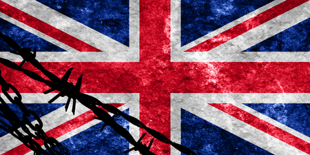 flee: Great britain flag with some soft highlights and folds