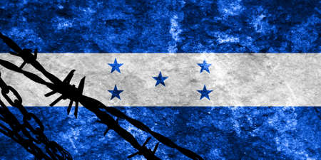 illegal alien: Honduras flag with some soft highlights and folds