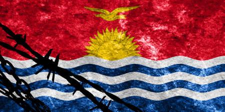 flee: Kiribati flag with some soft highlights and folds