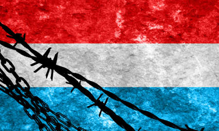 illegal alien: Luxembourg flag with some soft highlights and folds Stock Photo