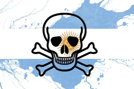 revolt: Argentina flag with some soft highlights and folds