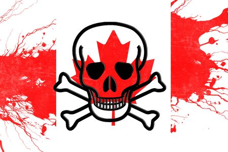 riots: Canada flag with some soft highlights and folds