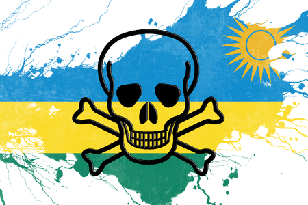 rebellion: Rwanda flag with some soft highlights and folds