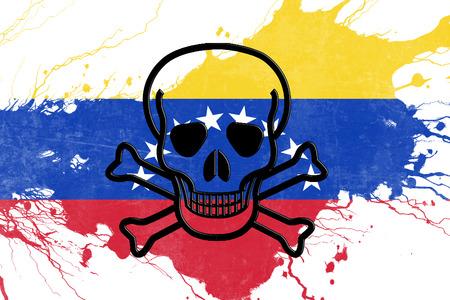 bandera de venezuela: bandera de Venezuela con algunos toques de luz suave y pliegues