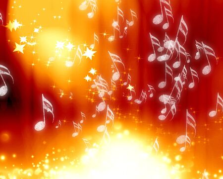 musical background: Red stage background with an intense red spotlight