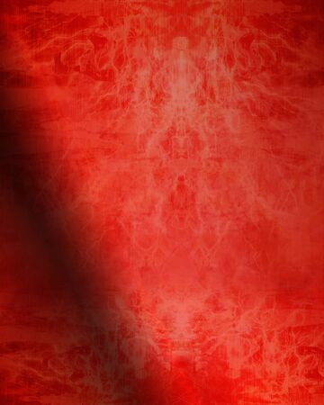 soul mate: red valentine paper with some damage on it Stock Photo