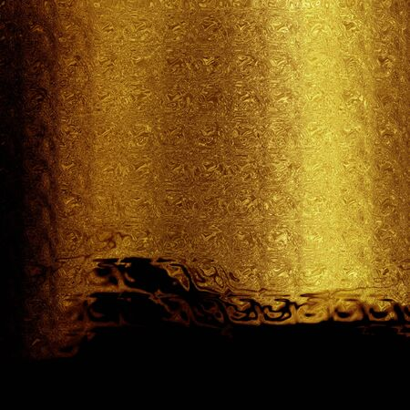 highlights: Golden background with some reflected light and highlights Stock Photo