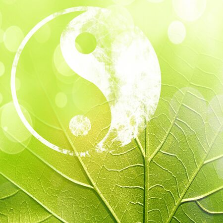 yan: The yin and yang grass sign with some soft spots and highlights
